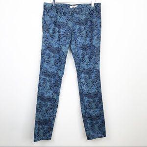 Tory Burch Ivy Printed Skinny Jeans